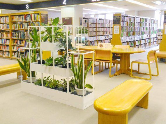 東広島市立サンスクエア児童青少年図書館館内写真
